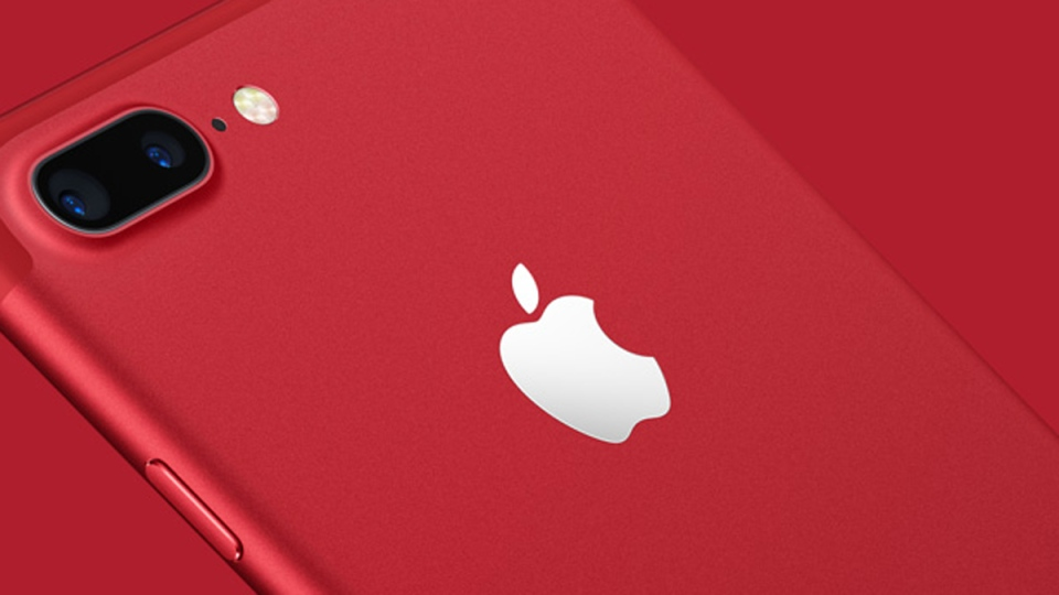 iPhone 7 (PRODUCT)RED Special Edition. (source: Apple)