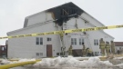 Fire crews respond to St. Thomas Baptist Church in North Preston, N.S. on March 22, 2017.