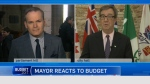 CTV's Graham Richardson speaks with Ottawa Mayor Jim Watson on his reaction to the budget.