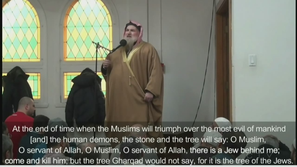 "An imam named Muhammed Bin Musa Al Nasr, visiting from Jordan, called Jewish people ""the most evil of mankind,"" and ""human demons."""