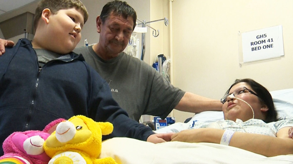 Cari Kirkness, a 28-year-old mother of two, recovers in a Manitoba hospital after losing both legs and her right arm to an aggressive group A streptococcus infection. (CTV Winnipeg)