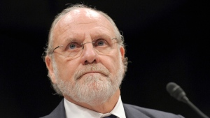 In this Thursday, Dec. 15, 2011, file photo, former MF Global Holdings Ltd. Chairman and CEO Jon Corzine testifies on Capitol Hill in Washington, before the House Financial Services Committee. (AP / Susan Walsh)