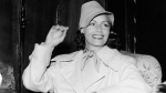 In this July 17, 1946, file photo, film actress Greta Garbo smiles on her arrival in Gothenburg, Sweden. (AP)