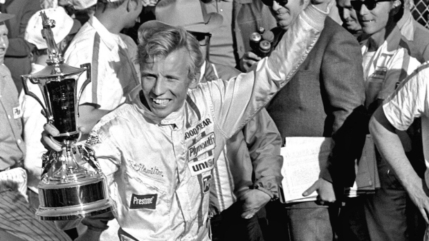 Pete Hamilton after winning the Daytona 500 on Feb. 23, 1970. (CS / AP / file)