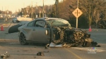 Crash west of Waterloo leaves man seriously hurt