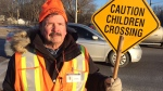 Crossing guard Tom Daniel has had a number of close calls with vehicles on Hwy. 12 in Orillia. (Rob Cooper/CTV Barrie)