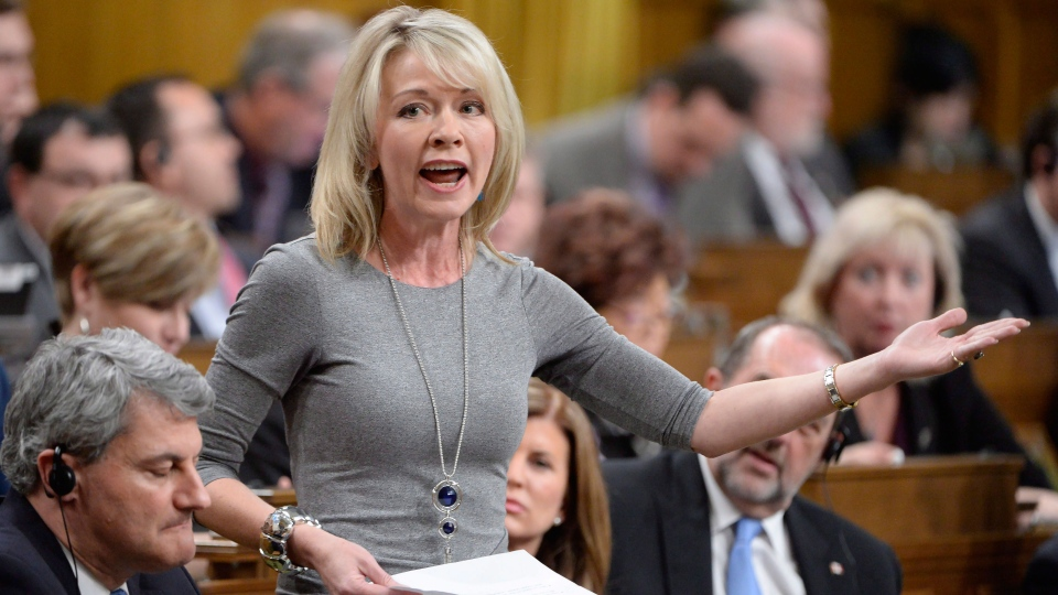 Conservative MP Candice Bergen asks a question during Question Period in the House of Commons in Ottawa, Thursday, March 23, 2017. (Adrian Wyld / THE CANADIAN PRESS)