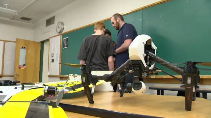 Drone club hopes at Elmwood High School