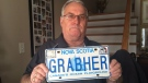 Lorne Grabher is fighting to get his personalized licence plate- his own last name- back on his car after it was deemed socially unacceptable.