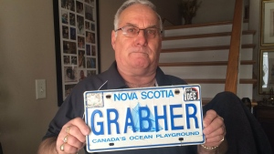 Lorne Grabher is fighting to get his personalized licence plate - his own last name - back on his car after it was deemed socially unacceptable.