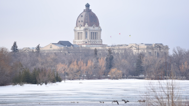 The Saskatchewan Legislative Building overlooks Wascana Lake in this CTV file photo.