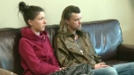 Kristen Bolt sits with her friend Juice in Guelph, Ont. (CTV Kitchener)