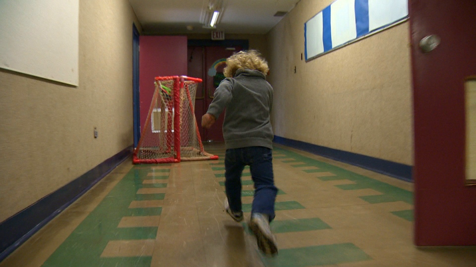 Running isn't banned in the school's hallways – in fact, it's encouraged. March 23, 2017. (CTV Vancouver Island)