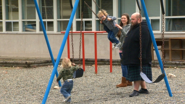 It might be some children's worst nightmare, but not the Middletons. The Nanoose Bay, B.C., family is giving new meaning to home-schooling by moving into a former elementary school complete with lockers, classrooms and...an axe-throwing range? March 23, 2017. (CTV Vancouver Island/Jessica Lepp)