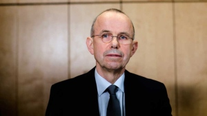 Guenter Lubitz, father of the Germanwings co-pilot of the plane crash in the French Alps arrives at a news conference, in Berlin, Germany, Friday, March 24 2017. Two years ago, the Germanwings machine 4U 9525 crashed in the Southern French Alps, killing 150 people. (AP Photo/Markus Schreiber)