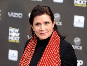 This April 7, 2011, file photo, shows Carrie Fisher at the 2011 NewNowNext Awards in Los Angeles. (AP Photo/Chris Pizzello, File)