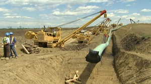The 3,500 km Keystone XL pipeline will carry Alberta crude to the Texas coast.