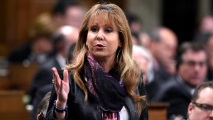Conservative MP Dianne Watts asks a question during Question Period in the House of Commons, in Ottawa on Thursday, Nov. 17, 2016. (THE CANADIAN PRESS/Justin Tang)