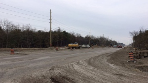 Mapleview Drive East in Barrie will be closed from Huronia Road to Country Lane starting March 27. (Aileen Doyle/CTV Barrie)