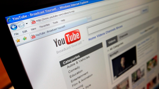 YouTube's website is seen in Los Angeles on March 18, 2010. (AP / Richard Vogel)