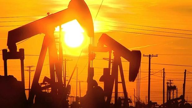 oilfield sunset