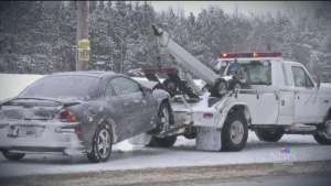 Tow truck operators must get permission from drivers and disclose rates before hooking up their car. (CTV Ottawa)