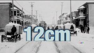 Near-record snow fall