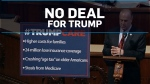 No deal on healthcare bill for Trump