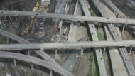 Turcot interchange construction