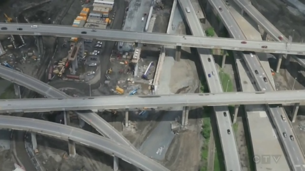 Turcot interchange construction