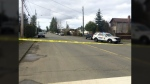 Police were called to the 1600-block of Piercey Avenue near 17th Street in Courtenay after a man was shot. March 24, 2017. (Courtesy Comox Valley Record)