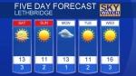 Lethbridge forecast March 24, 2017