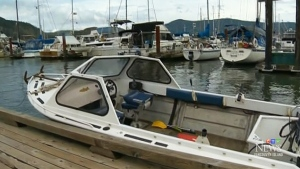 Fishing boat that became out of control in water. (CTV News Vancouver Island)