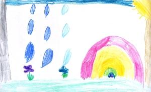 Weather art by Sophia, age 6, from Corpus Christi Elementary School.