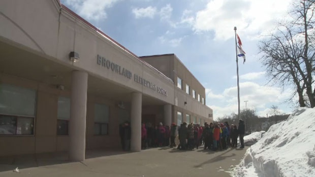 Students and teachers returned to Brookland Elementary School five months after the devastating Thanksgiving Day flood.