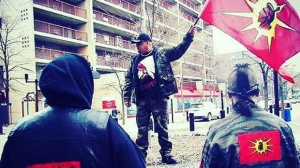 Members of the Urban Warrior Alliance will stand watch at Portage Place Shopping Centre Saturday and Sunday. (Source: Facebook/Vin Clarke)
