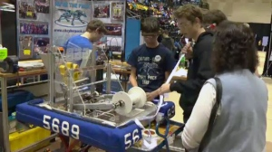 The FIRST Robotics Competition brought high school students from across Ontario to the University of Waterloo.
