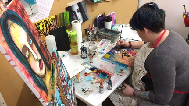 Artbeat Studio needs to raise $150,000 by the end of April. Right now, it's halfway to its goal thanks to donations from nearly 150 people. (Photo: Jamie Dowsett/CTV Winnipeg)