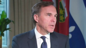 Federal Finance Minister Bill Morneau speaks to CTV Question Period.  (CTV)