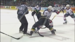 The London Knights were knocked off their 17-game playoff winning streak when the Windsor Spitfires beat them in game one of the series.