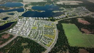 Florida's eco-friendly Babcock Ranch is pictured in this artist's rendering. (Kitson & Partners)