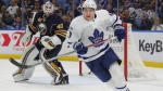 Toronto Maple Leafs forward Zach Hyman (11) skates during the second period of an NHL hockey game against the Buffalo Sabres, Saturday, March 25, 2017, in Buffalo, N.Y. (AP Photo/Jeffrey T. Barnes)