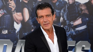 "In this Aug. 11, 2014 file photo, Antonio Banderas arrives at the premiere of ""The Expendables 3"" in Los Angeles. (Photo by Jordan Strauss/Invision/AP, File)"