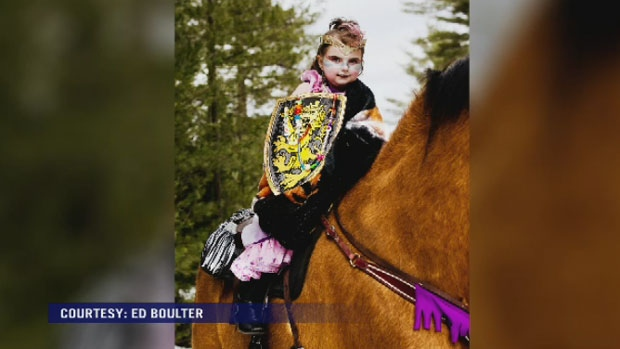 Zoey Jackson was transformed into a warrior princess and got to ride a horse at Guildwood Farm on Nova Scotia's south shore.