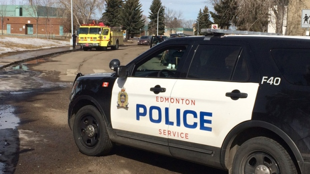 Edmonton police investigating a suspicious death in the area of 162 Avenue and 103 Street Sunday, March 26, 2017.