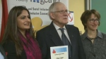 Edgar Leger was honoured on Sunday for helping Monctonians file their taxes for free for 46 years.