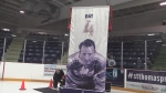 "The banner for Legendary Toronto Maple Leaf Clarence ""Hap"" Day was re-homed in St. Thomas on March 26, 2017 after hanging in the A.C.C."