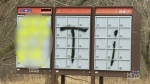 Graphic graffiti concerns in Caledonia