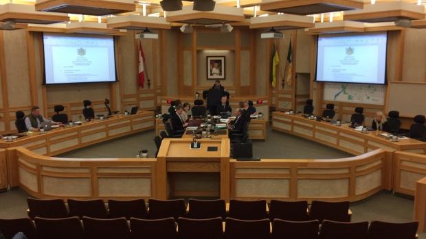 Saskatoon City Council holds an emergency meeting on March 26, 2017 (Mark Villani / CTV Saskatoon)