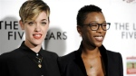 "FILE - In this Feb. 11, 2015, file photo, Lauren Morelli, left, and Samira Wiley arrive at the LA Premiere of ""The Last Five Years"" in Los Angeles.  (Photo by Richard Shotwell/Invision/AP, File)"